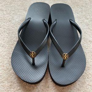 Tory Burch wedge flip-flops for sale!